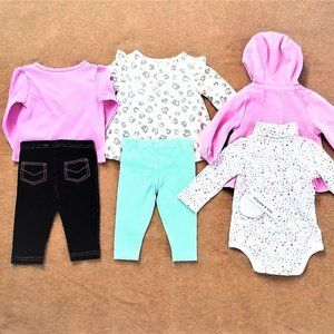 Gymboree Koala Kids Baby Girl 3-6M Mixed Lot of 6